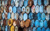 Colorful Oil Tanks