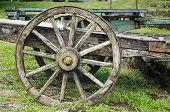 Vintage Wooden Wagon Wheel