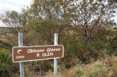 Sign For The River Glen In County Donegal Ireland