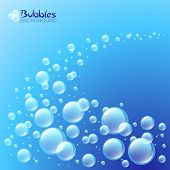 Wave of bubbles