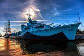 Warship In Port