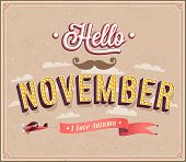 Hello November Typographic Design.