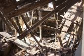 stock photo of collapse  - Interior shot of derelict - JPG
