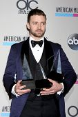 LOS ANGELES - NOV 24:  Justin Timberlake at the 2013 American Music Awards Press Room at Nokia Theat