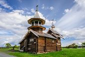 Antique wooden Orthodox Church at Kizhi island in Russia