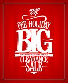 Pre-holiday sale design template.