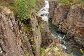 image of taimyr  - Rocky canyon of the mountain river - JPG