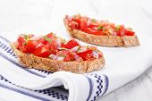 Bruschetta Background.