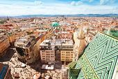Stephansplatz And Cityscape Of Vienna