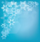 Frosted glass background with snowflakes