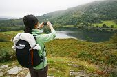 Frau Wandern im Lake District