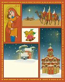 stock photo of three kings  - Vintage Style Christmas Poster  - JPG