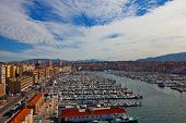 View Of Old Port In Marseilles City
