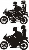 couple on motorcycle