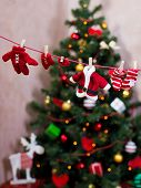 Santa's clothes on the clothesline