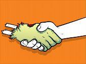 Zombie Handshake