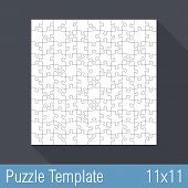 Puzzle Template 11X11