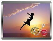 Stop Copyright Infringement Concept