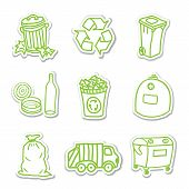 Постер, плакат: Garbage Icon Stickers