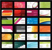 Постер, плакат: Набор визитных карточек