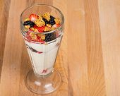 Mixed Berry Yogurt Parfait With Strawberries And Blackberries