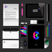 Corporate identity black  mock-up classic style