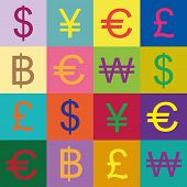 Currency Symbols Vector Design