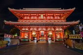 Hozomon (Treasure-House Gate) at Sensoji Temple in Tokyo