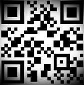 QR Code With Black Vignette