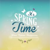 Spring Time Typographic