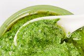 Delicious Pesto Sauce Close Up