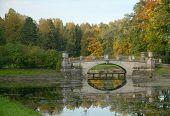 Viskont'ev Bridge Across Slavyanka River, Pavlovsk Park, Saint Petersburg, Russia