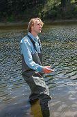 Jakub Vagner a fisherman