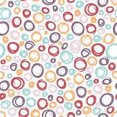 Seamless multicolor pattern with circles.