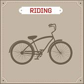 Hipster bike retro illustration
