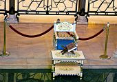 Chair Of Habib Bourgiba In Mausoleum Of Habib Bourgiba, Monastir,