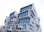 stock photo of asymmetrical  - Picture of asymmetrical and rectangular building exterior - JPG
