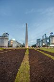stock photo of obelisk  - BUENOS AIRES ARGENTINA  - JPG