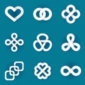 foto of infinity symbol  - Design vector logo templates  - JPG