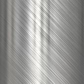 stock photo of titanium  - Metal background or texture of light brushed steel  plate - JPG