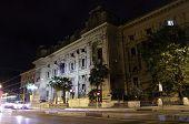 Ministero Dell'istruzione Facade At Night In Rome
