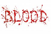 Red Paint Splash Painted Word Blood