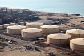 Storage Tanks At The Port