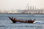 Traditional Arabic Dhow In Dubai