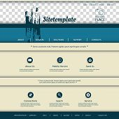 Website Template with Abstract Pattern Design and Place for Your Photo