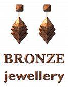 Fashion Jewelry Earrings Bronze