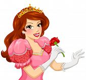 princess holding a rose