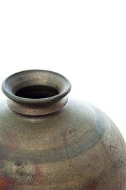 foto of raku  - Raku pot isolated on pure white background  - JPG