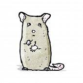 cartoon nervous mouse