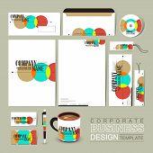 Colorful Circle Background Corporate Identity Set